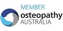 member osteopathy australia logo