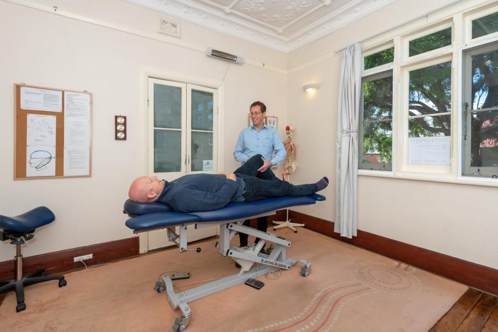 andrew conducted an osteopathy therapy